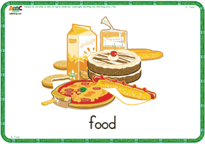 Food ESL Flash Cards - English for Kids