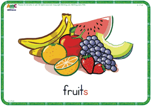 Fruit ESL Flash Cards - English for Kids