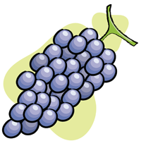 grapes - English for Kids - ESL Picture Dictionary