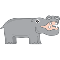 hippopotamus - English for Kids - ESL picture dictionary