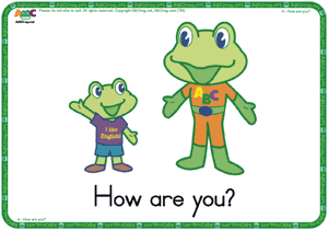 How are you? ESL Flash Cards - English for Kids