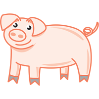 pig - English for Kids - ESL picture dictionary