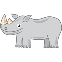 rhinoceros - English for Kids - ESL picture dictionary