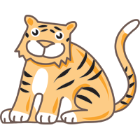 tiger - English for Kids - ESL picture dictionary