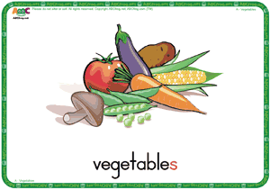 Vegetables ESL Flash Cards - English for Kids