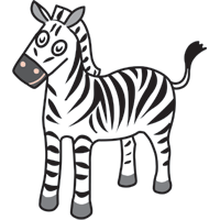 zebra - English for Kids - ESL picture dictionary