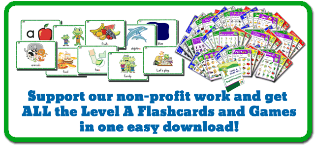 Flashcards to Teach Kids English
